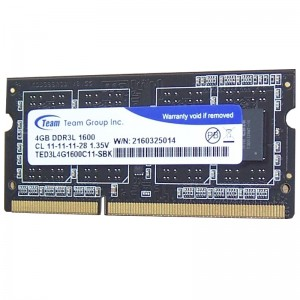 Ram laptop Team Elite 4GB - DDR3 - 1600MHz - PC3 12800