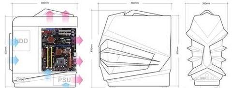 Thiết kế của case Gladiator phải mất tới 1 tháng để hoàn thành.