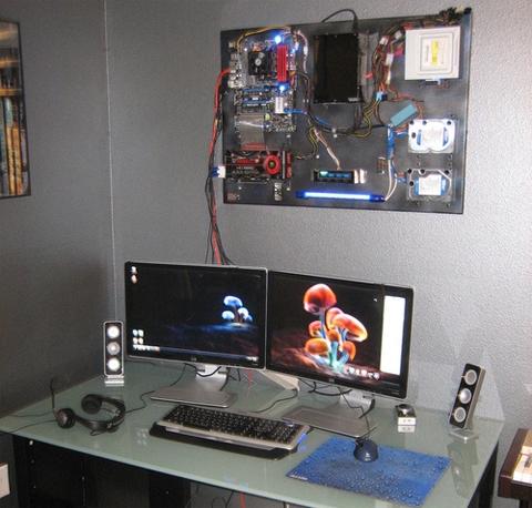 Case máy tính treo tường.